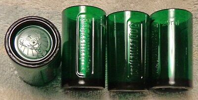 Jagermeister - Set of 4 Plastic Shot Glasses - Green with Raised Detail - NEW