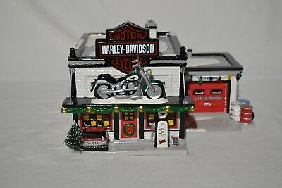 Dept. 56 Snow Village Harley Davidson Shop