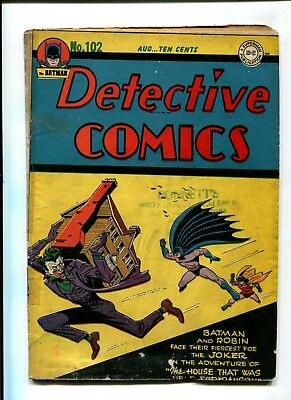 Detective Comics #102 VINTAGE Batman DC Comic Golden Age 10c Robin Joker Cover