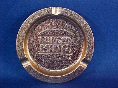 Vintage BURGER KING Restaurant Metal Ashtray