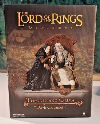 SIDESHOW COLLECTABLES Lord Of The Rings Theoden & Grima Diorama #51 of #500