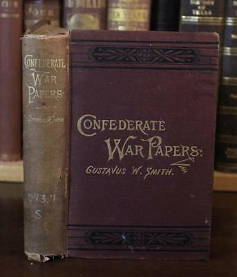 1884 CONFEDERATE CIVIL WAR PAPERS General Smith CSA Seven Pines MAPS VRARE $500+