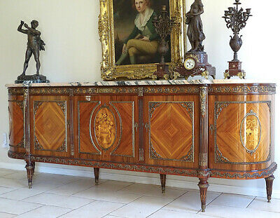 Vintage Dining Set French Louis XVI Sideboard Dining Table Chairs China Cabinet