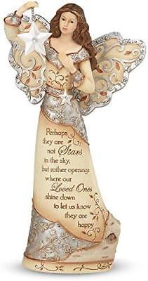 Pavilion Gift Company Elements 9-Inch Sympathy Angel Holding Star, Stars in