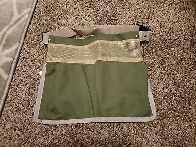 Gently Used Olive Green/tan/housekeeping/waitress Two Pocket Utility Fanny Pack
