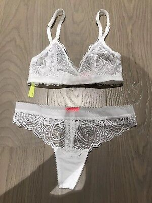 Sass & Bide White Bra And 2 Pant Set Size Small