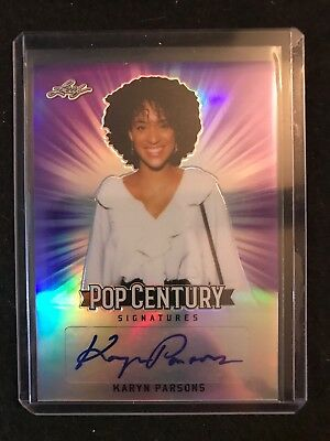 2018 Leaf Pop Century Metal Karyn Parsons Prismatic Purple Autograph 2/25