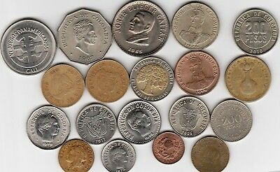 19 different world coins from COLUMBIA some scarce