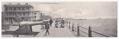 c1905 PANORAMIC Postcard / Mailcard - EAST BATTERY, CHARLESTON, SOUTH CAROLINA