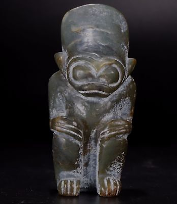 380g Chinese jade carved Hongshan culture style jade statue B1191