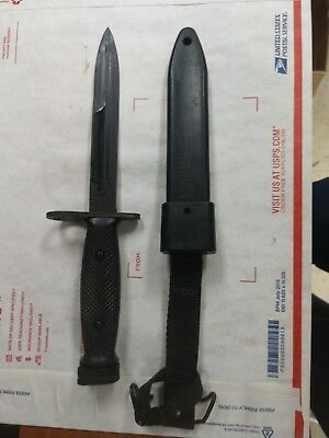 US Military ONTARIO M7 Bayonet Combat Knife with M10 Black Scabbard Minty