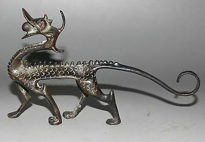 Decorated Handwork Bronze Carving Dragon Wonderful Statue 1