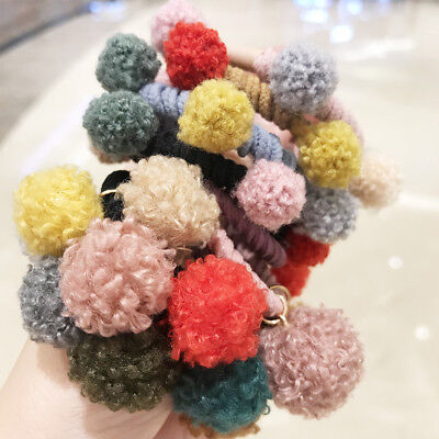 20x Assorted Color Fluffy Balls Costume /Hair Band /Hat /Bag/ Ornaments Gift