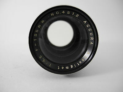 ACCURA ANASTIGMAT 135mm/4.5 ENLARGING LENS SMOOTH APERTURE NICE GLASS LARGE FOR