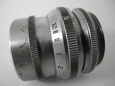Solar 135Mm/4.5 Anastigmat Heavy Brass Lens Smooth Aperture Nice Glass