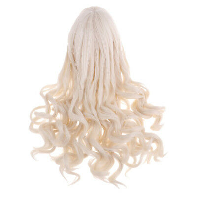 1/3 BJD Doll Full Wig Curly Hair For DOD Doll Hairpiece Supplies Light Gold