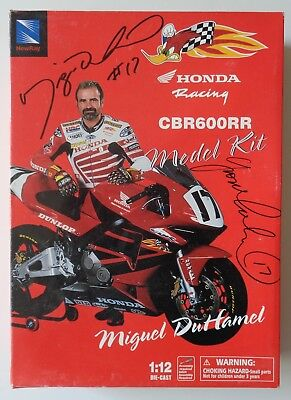 New Ray Honda Racing 1/12 CBR 600RR Miguel DuHamel Model Kit Autographed Yvon