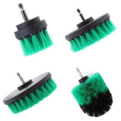 4 Piece Drill Brush Attachment Set for Grout Corners Bathroom and Kitchen
