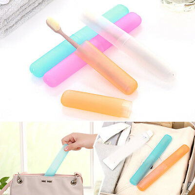 1pc Toothbrush Protect Cover Travel Camping Hiking Portable Case Tube Holder Box