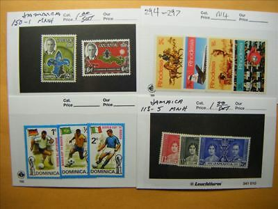 7176 Br. Commonwealth Lot of 4 Mint Stamp Packs