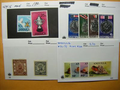 7177 Br. Commonwealth Lot of 4 Mint Stamp Packs