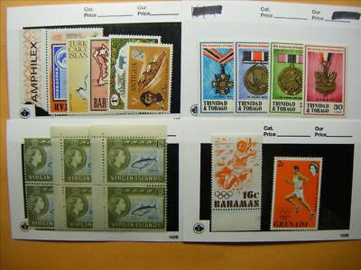 7180 Br. Commonwealth Lot of 4 Mint Stamp Packs