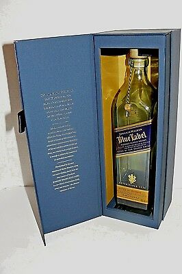 JOHNNIE WALKER BLUE LABEL EMPTY BOTTLE w GIFT BOX 750ml PERFECT
