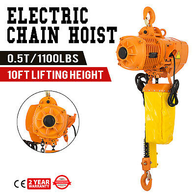 3Phase 240V 500KG Electric Chain Hoist 3M Lifting Dock Low Noise Railway