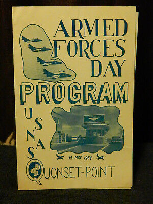ARMED FORCES DAY PROGRAM USNAS QUONSET POINT RI 15 May 1954 Naval Air Station