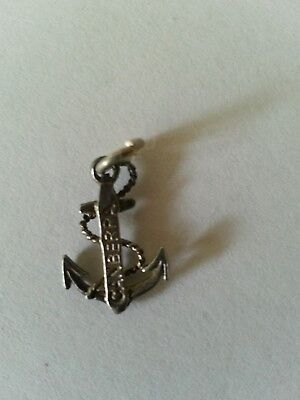P&O Canberra silver plated charm anchor with CANBERRA imprinted.