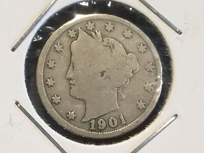 "1901   US  ""Liberty Head"" Nickel"