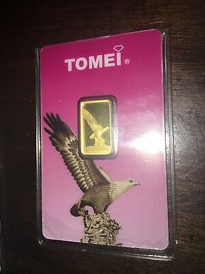Tomei Swiss Made SUISSE Fine 999.9 Gold Bullion Bar 5g
