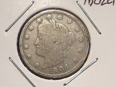 "1904   US  ""Liberty Head"" Nickel"
