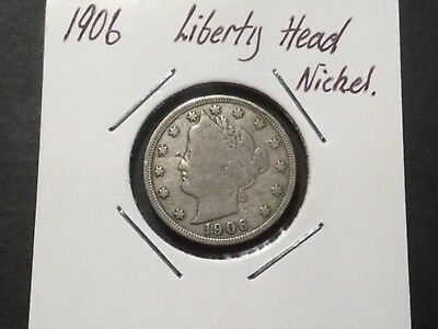 1906 US Liberty Head nickel/ 112 year old coin.