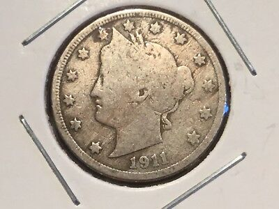 "1911    US  ""Liberty Head"" Nickel"