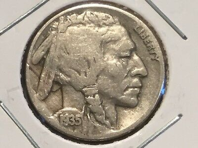 "1935 US  ""Indian  Head"" Nickel"