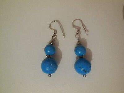 Boucle d'oreilles turquoise /  Turquoise earring and 925 silver