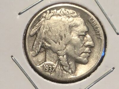 "1937 US  ""Indian  Head"" Nickel"