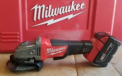 New Milwaukee M18 Fuel Slide Switch Lock-On Angle Grinder - Black/Red (2781-20)