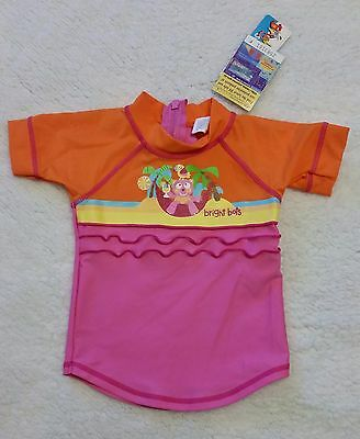BNWT 'BRIGHT BOTS' GIRL'S SHORT SLEEVE RASHIE Size 00