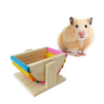 Hamster Cage/Toy/Seesaw Pet Wooden Home Small Animal Rat Mice House Play Swing