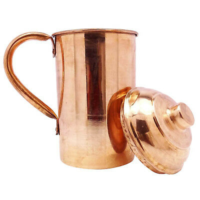 Pure copper 1.5 Liter water Storage Jug Health Ayurveda Copper pitcher -CA