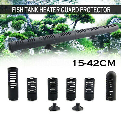 Aquarium Fish Tank Heater Guard Protector with Suckers Adjustable Universal Fit