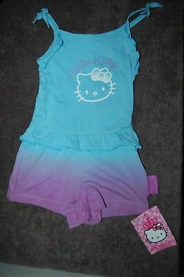 M&S Hello Kitty Playsuit Blue-Purple Mix Age 12-18 Months BNWT