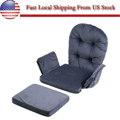 Velvet & Cotton Baby Nursery Rocker Rocking Chair Glider & Ottoman Stool Cushion