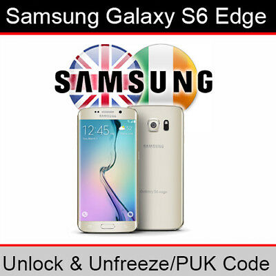 Samsung Galaxy S6 Edge Unlock & PUK Code (ALL UK/Ireland Networks Supported)