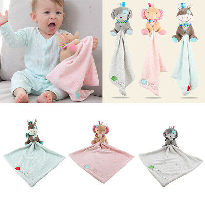 Baby Security Blanket With Plush Stuffed Animals Infant Comforter Toys