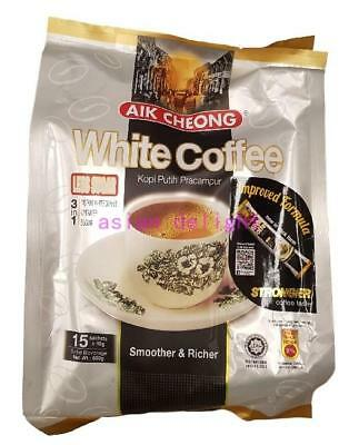 Aik Cheong Malaysia 3 in 1 Instant White Coffee Less Sugar (40g x15 sticks)