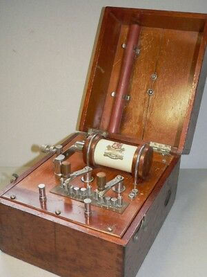 A superb, working Edwardian shock machine - for electrotherapy or fetish