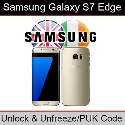 Samsung Galaxy S7 Edge Unlock & PUK Code (ALL UK/Ireland Networks Supported)